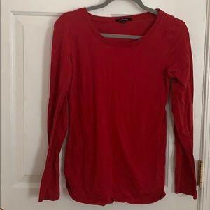 Plain red shirt